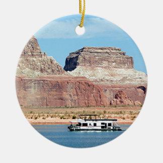 Houseboat, Lake Powell, Arizona, USA 6 Ceramic Ornament