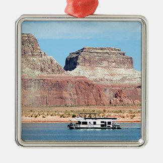 Houseboat, Lake Powell, Arizona, USA 6 Metal Ornament