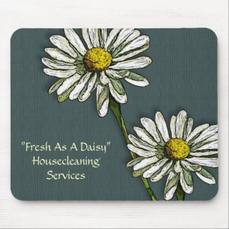 Housecleaning: Fresh as a Daisy, Daisies Art Mouse Pad