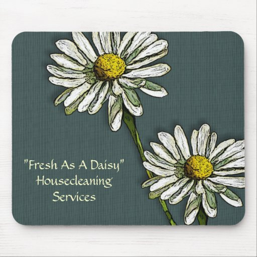 Housecleaning: Fresh as a Daisy, Daisies Art Mouse Pads