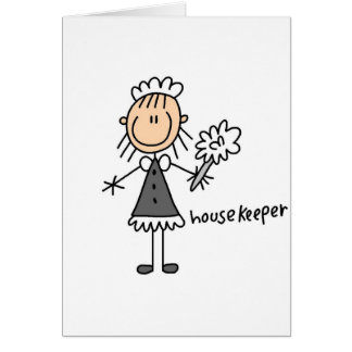 Housekeeper Stick Figure Card