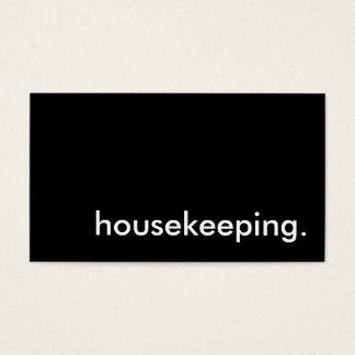 housekeeping. business card