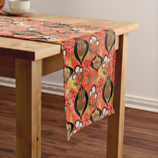 Houseplants | Fifties Style | Atomic Pattern Short Table Runner