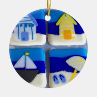 Houses 1 ceramic ornament