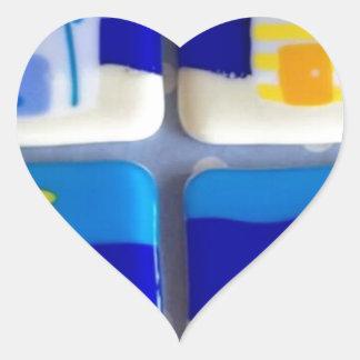 Houses 1 heart sticker
