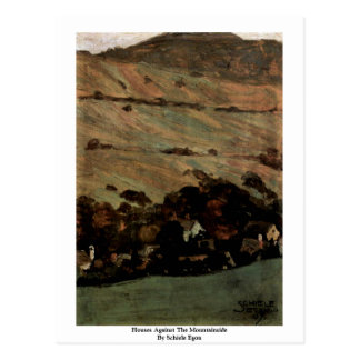Houses Against The Mountainside By Schiele Egon Postcard