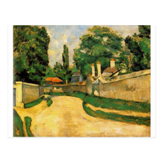 Houses Along a Road by Paul Cezanne Postcard