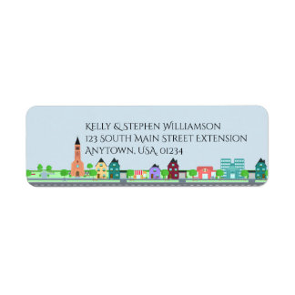 Houses and Apartment Buildings Home Sweet Home Return Address Label