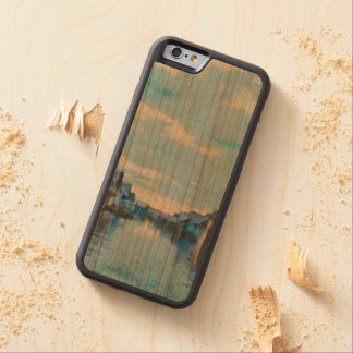 Houses and canal carved cherry iPhone 6 bumper case