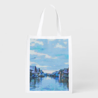 Houses and canal market tote