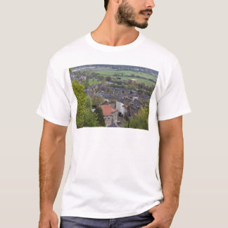 Houses and meadows as seen from a height T-Shirt