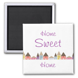 Houses and Roof Tops Square Magnet