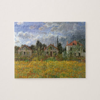 Houses at Argenteuil by Claude Monet, Vintage Art Jigsaw Puzzle