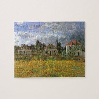 Houses at Argenteuil by Claude Monet, Vintage Art Puzzle