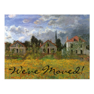 Houses at Argenteuil by Monet, Change of Address Postcard