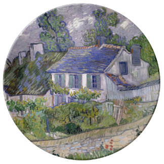Houses at Auvers by Vincent Van Gogh Plate