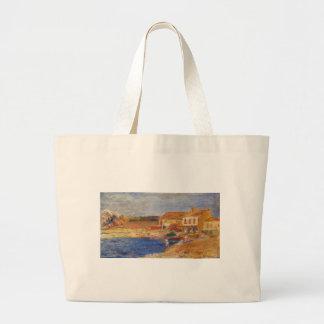 Houses by the Sea by Pierre-Auguste Renoir Jumbo Tote Bag