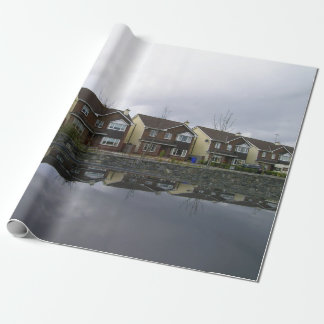 Houses estate in Ireland Wrapping Paper
