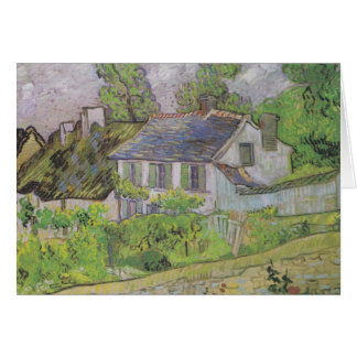 Houses in Auvers - Van Gogh (1890) Card