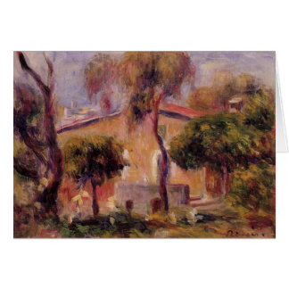 Houses in Cagnes by Pierre-Auguste Renoir Card