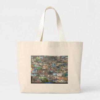 Houses in Peru Large Tote Bag