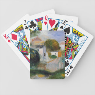 Houses in the Trees by Pierre-Auguste Renoir Bicycle Playing Cards