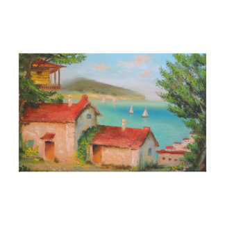 Houses near the sea [Canvas print] Canvas Print