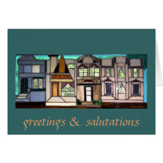 Houses Note Card