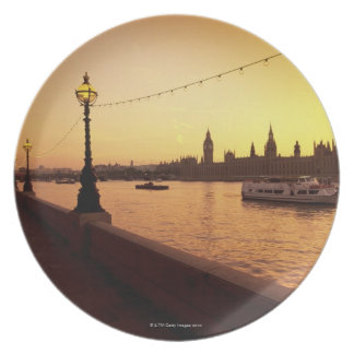 Houses of Parliament at Sunset Plate