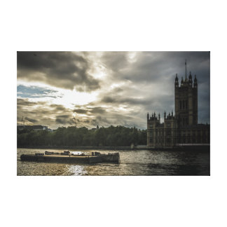 Houses of Parliament from across the Thames Canvas Print