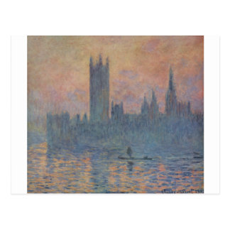 Houses of Parliament in Winter by Claude Monet Postcard