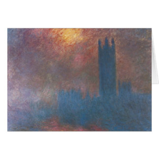 Houses of Parliament, London by Claude Monet Card