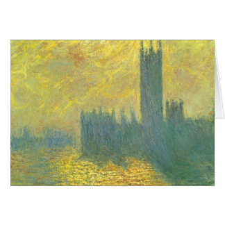 Houses of Parliament, Stormy Sky by Claude Monet Card