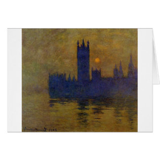 Houses of Parliament, Sunset 02 by Claude Monet Card
