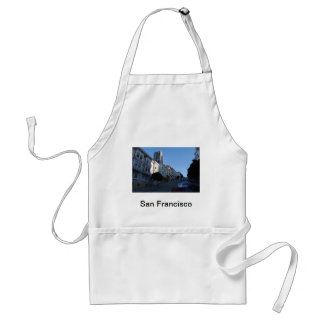 Houses on a street in San Francisco, California Adult Apron