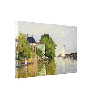 Houses on the Achterzaan - Claude Monet Canvas Print