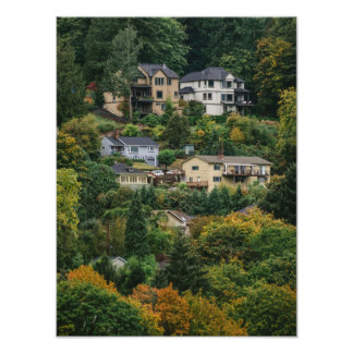 Houses on the hill art photo