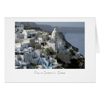 Houses on the hillside card