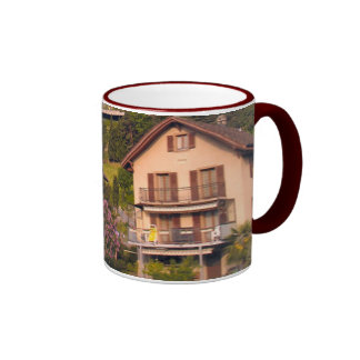 Houses on the hillside, Lake Lucerne Ringer Mug