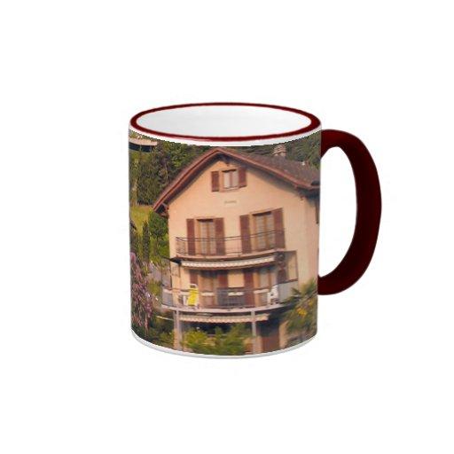 Houses on the hillside, Lake Lucerne Coffee Mug