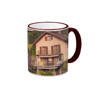 Houses on the hillside, Lake Lucerne Ringer Mug