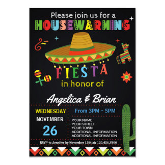 Housewarming Fiesta Party Invitation