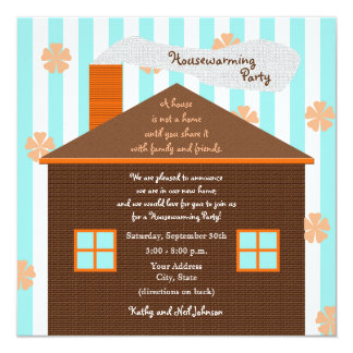 Housewarming Party Invitation Brown House