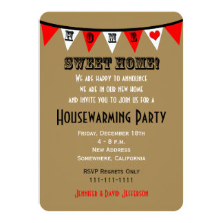 Housewarming Party Invitation Bunting