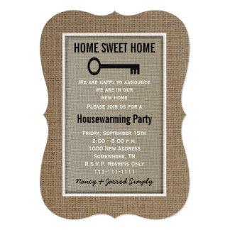 Housewarming Party Invitation Burlap
