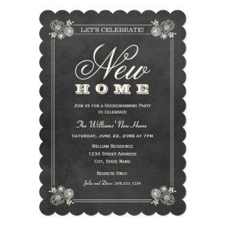 Housewarming Party Invitations   Black Chalkboard
