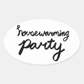 HOUSEWARMING PARTY Logo Sticker - Transparent
