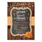 Housewarming Sweet Home Fall Chalk Pumpkin Invite