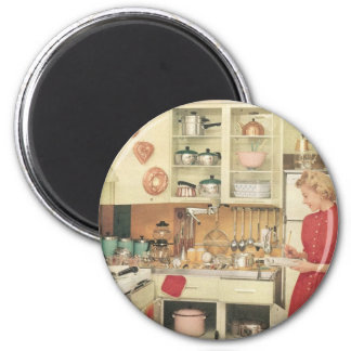 Housewife 2 Inch Round Magnet