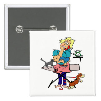 Housewife 2 Inch Square Button